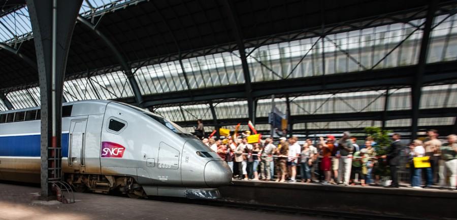 TGV in Karlsruhe